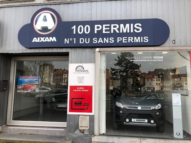 Voiture sans permis à Dunkerque - 100 Permis